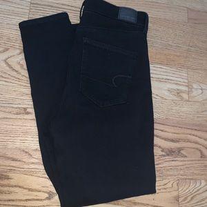 Black American eagle jeans size 12 reg. NWOT